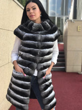 Load image into Gallery viewer, REAL NEW CHINCHILLA ROYAL FUR VEST  MODEL CFS-005
