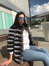 Load image into Gallery viewer, REAL NEW GENUINE CHINCHILLA ROYAL FUR COAT JACKET MODEL CFS-001