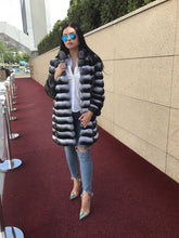 Load image into Gallery viewer, REAL NEW CHINCHILLA ROYAL FUR COAT JACKET  MODEL CFS-003