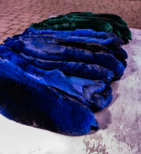 Load image into Gallery viewer, Chinchilla pelt , chinchilla fur , fur , leather , best fur prices , dyed blue