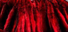 Load image into Gallery viewer, Chinchilla pelt , Chinchilla Pelz , pelle di cincillà , tanned pelt , dyed red