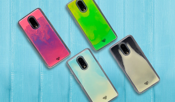 Oneplus 6t Neon Sand Liquid Cases & Covers