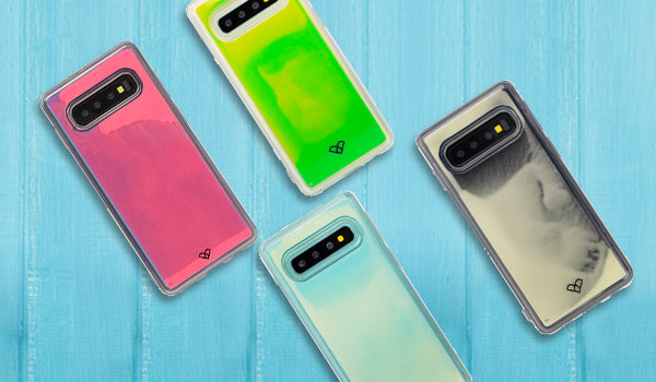 Samsung Galaxy S10 Plus Neon Sand Liquid Cases & Covers