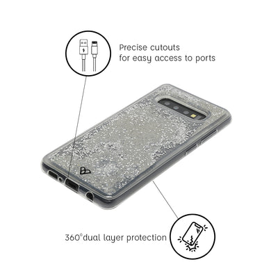 Galaxy S10 Glitter Cases And Covers-Silver