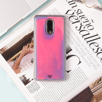 OnePlus 6T Neon Sand Liquid Cases And Covers
