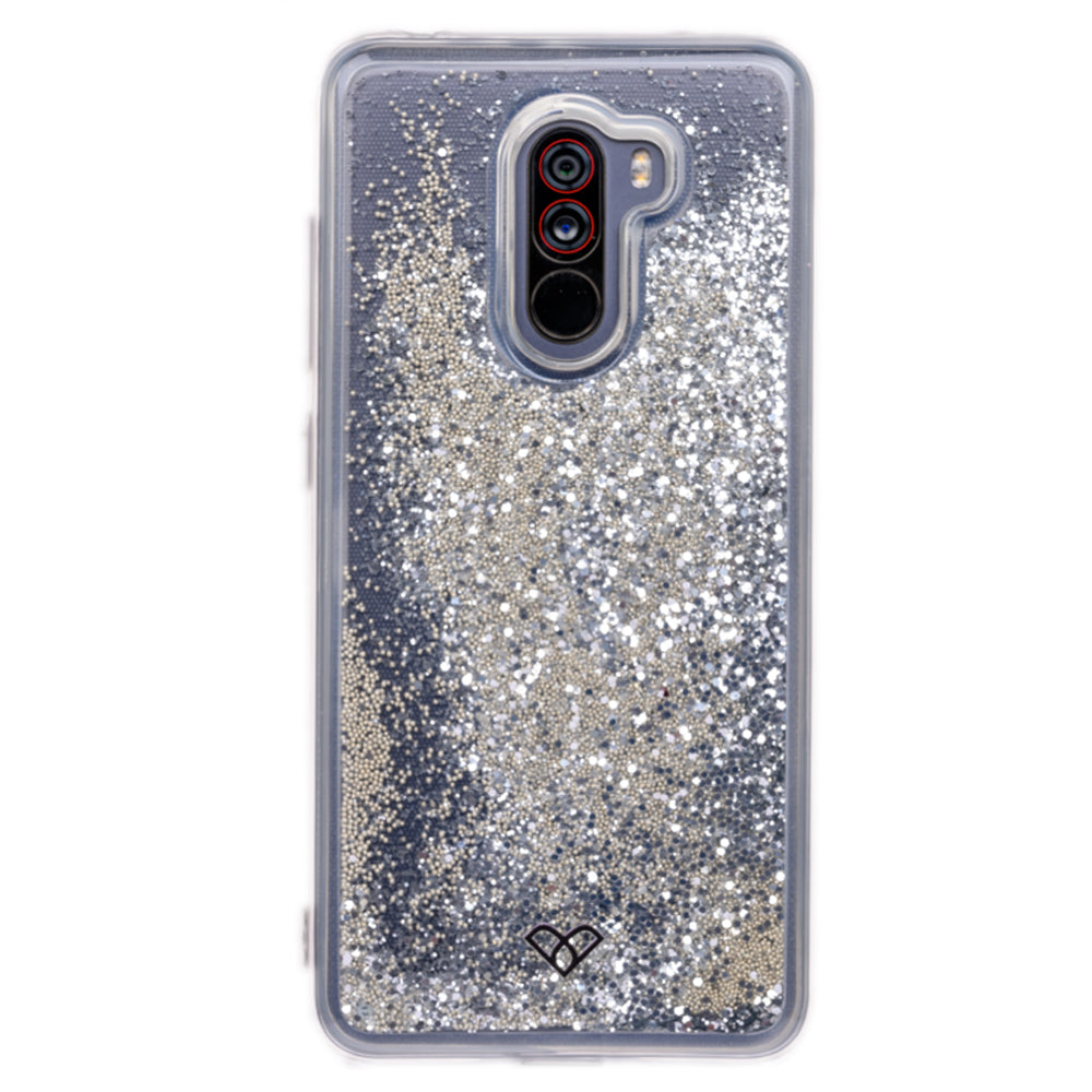Poco F1 Glitter Cases And Covers-Shimmering Silver