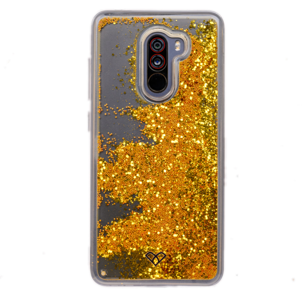 Poco F1 Glitter Cases And Covers-Bling Gold