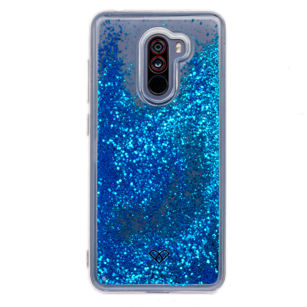 Poco F1 Glitter Cases And Covers-Sparkling Blue