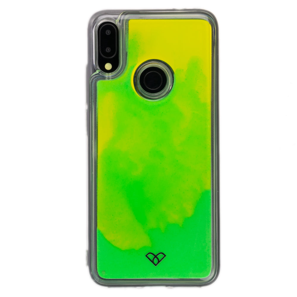 Redmi Note 7 Pro Neon Sand Liquid Glow Cases-Green-Yellow