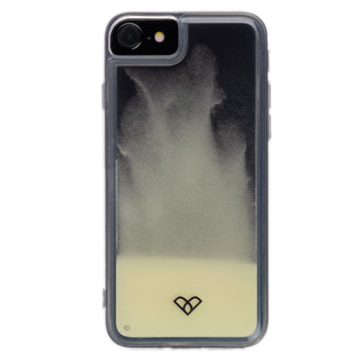 iPhone 7 Neon Sand Liquid Glow Cases-Black-White