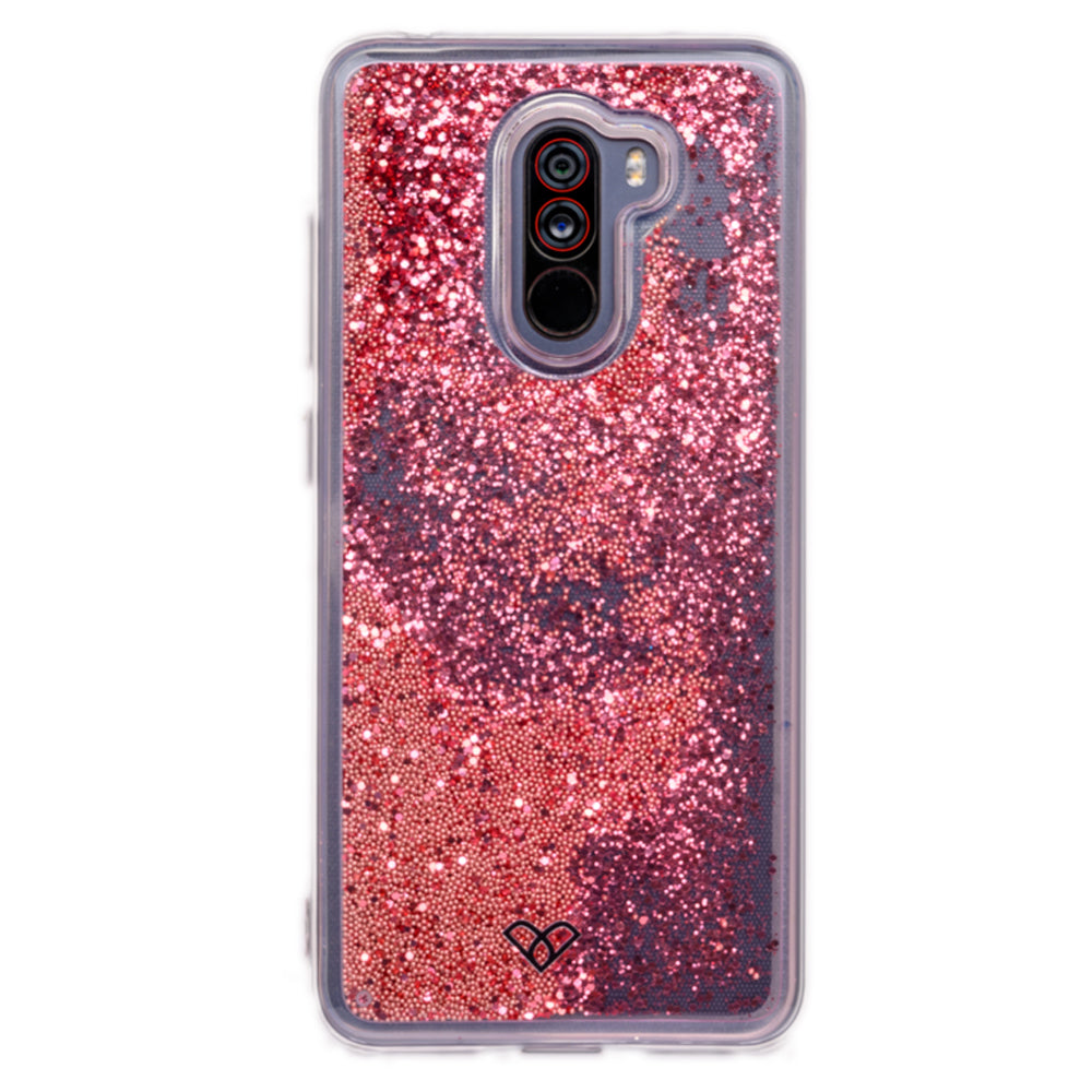 Poco F1 Glitter Cases And Covers-Electric Pink