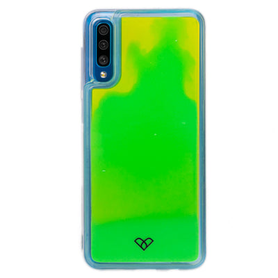 Galaxy A50 Neon Sand Liquid Glow Cases-Green-Yellow