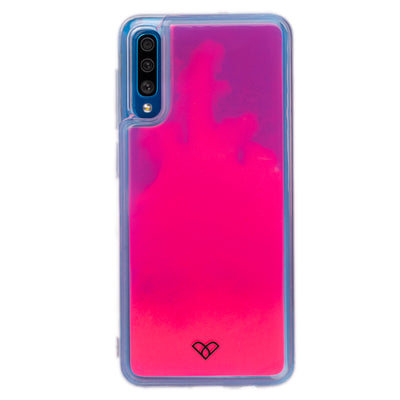 Galaxy A50 Neon Sand Liquid Cases And Covers-Pink