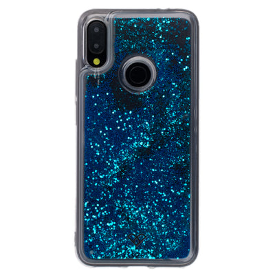 Redmi Note 7 Custom Glitter Cases And Covers-Sparkling Blue