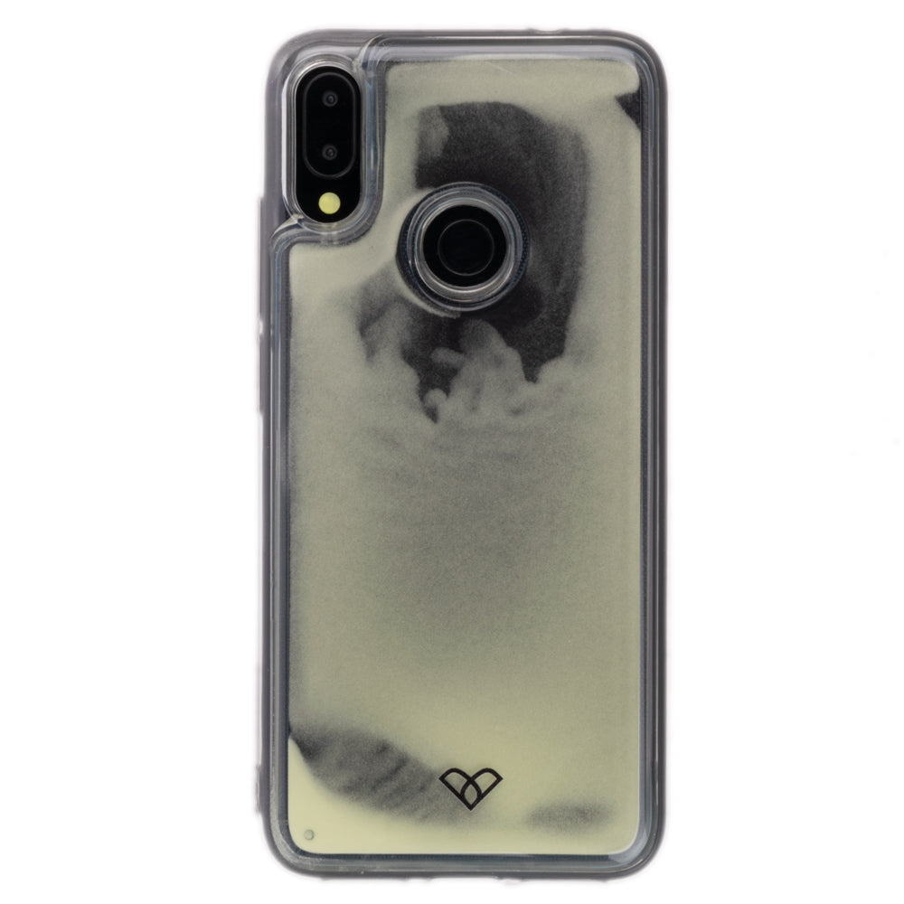 Redmi Note 7 Pro Neon Sand Liquid Glow Cases-Black-White