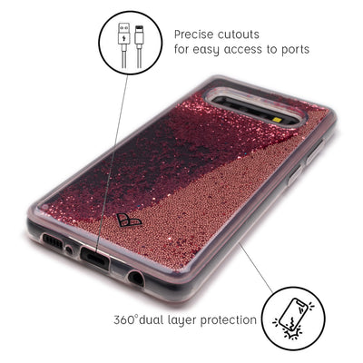 Galaxy S10 Plus Glitter Cases And Covers-Electric Pink