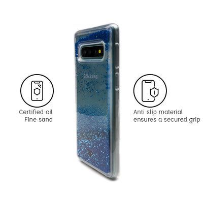 Galaxy S10 Plus Custom Glitter Cases And Covers-Sparkling Blue