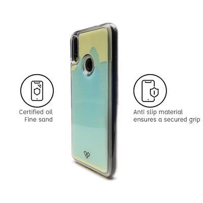 Redmi Note 7 Custom Neon Sand Liquid Glow Cases-Blue-White