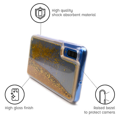 Galaxy A50 Glitter Cases And Covers-Bling Gold