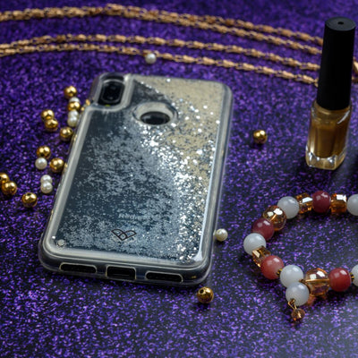 Redmi Note 7 Custom Glitter Cases And Covers-Shimmering Silver