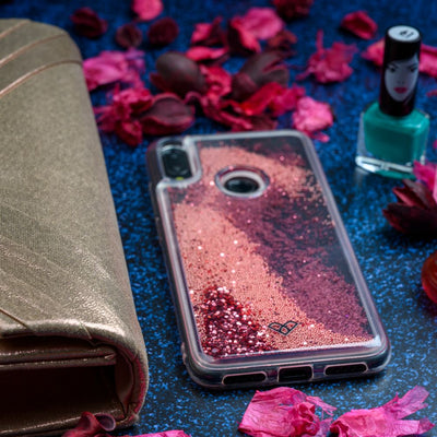 Redmi Note 7 Glitter Cases And Covers-Electric Pink