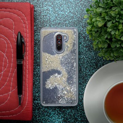 Poco F1 Custom Glitter Cases And Covers-Shimmering Silver