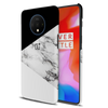 Geometric White Marble Textured Slim Case And Cover For OnePlus 7T