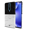 White Marble and Black Camouflage Pattern Slim Case And Cover For Poco X2