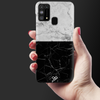Grey & Black Marble Slim Case And Cover For Galaxy M31