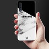 Geometric White Marble Textured Slim Case And Cover For Galaxy A50