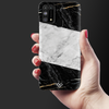 Black And White Holo Laser Marble Slim Case And Cover For Galaxy M31