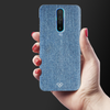 Denim Jeans Texture Slim Case And Cover For Poco X2