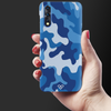 Blue Abstract Camouflage Slim Case And Cover For Vivo Z1X