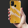 Yellow Snake Skin Slim Case And Cover For Galaxy M31