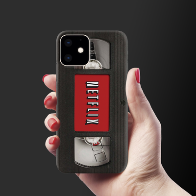 Netflix On VHS Slim Case And Cover For iPhone 11