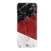 Red Geometric Marble Slim Case And Cover For OnePlus 7T Pro