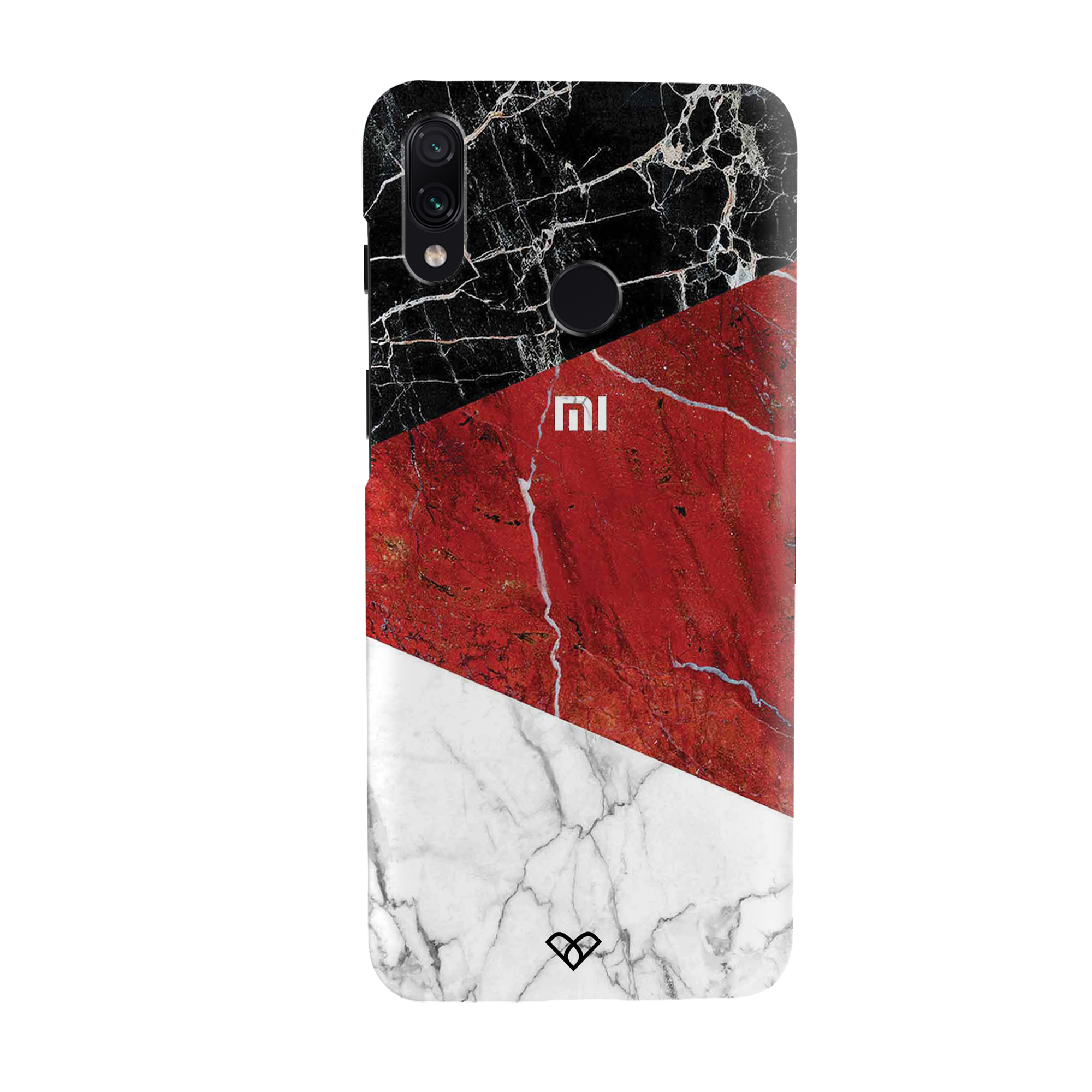Red Geometric Marble Slim Case And Cover For Redmi Note 7 Pro