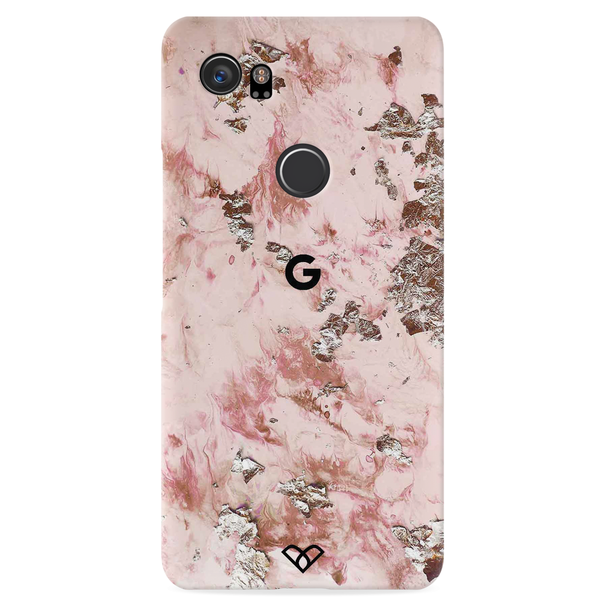 Pink Marble Slim Case And Cover For Pixel 2 XL