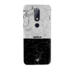 Grey & Black Marble Slim Case And Cover For Nokia 6.1 Plus