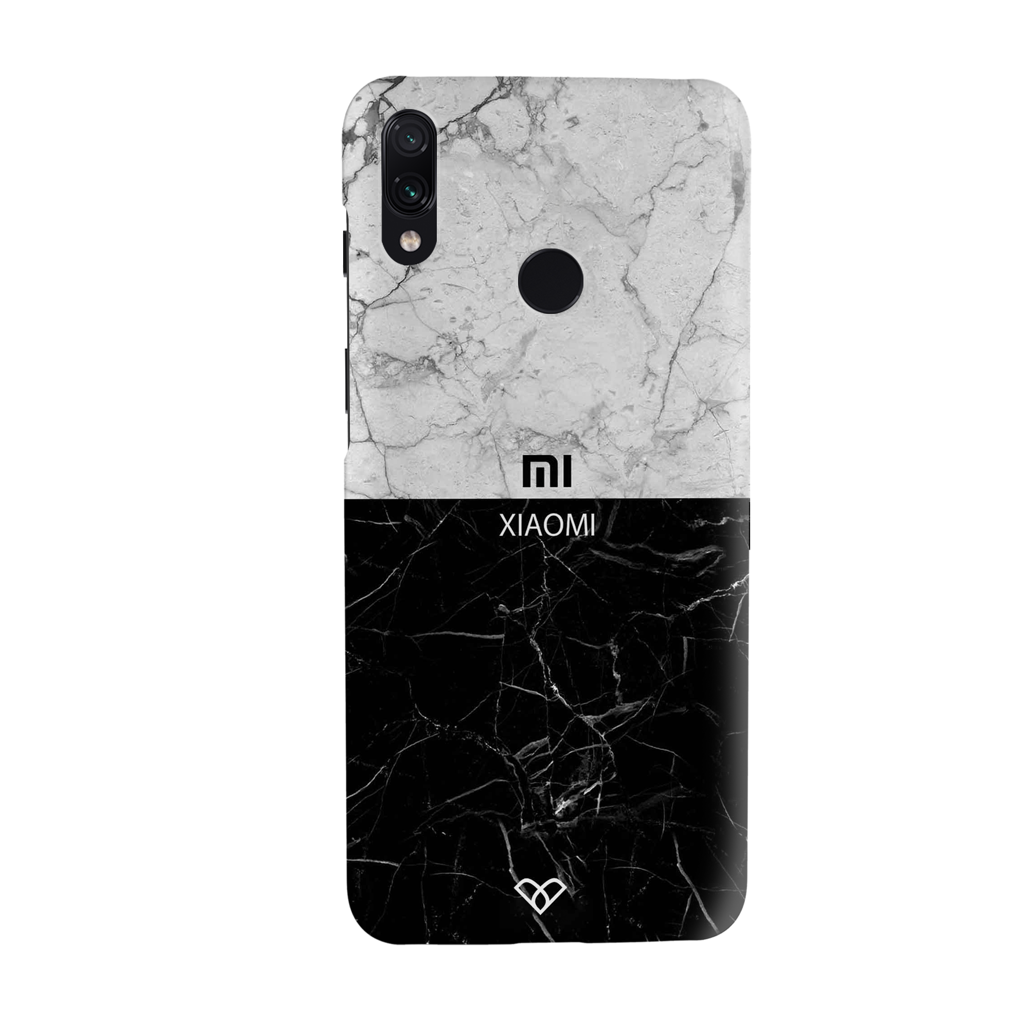 Grey & Black Marble Slim Case And Cover For Redmi Note 7 Pro