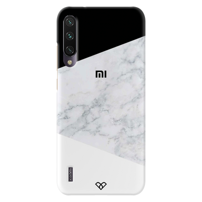 Geometric White Marble Slim Case And Cover For Redmi A3
