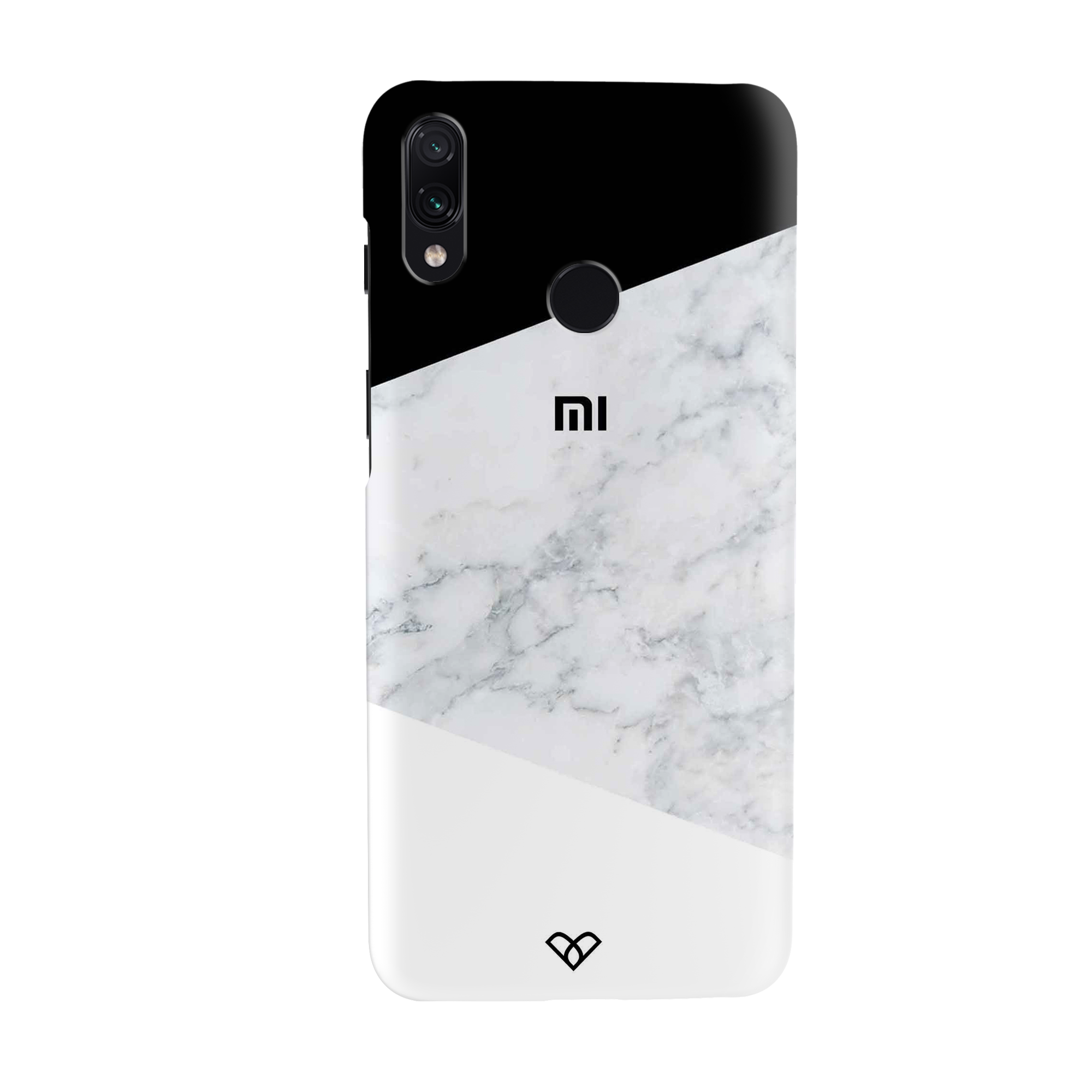 Geometric White Marble Slim Case And Cover For Redmi Note 7 Pro