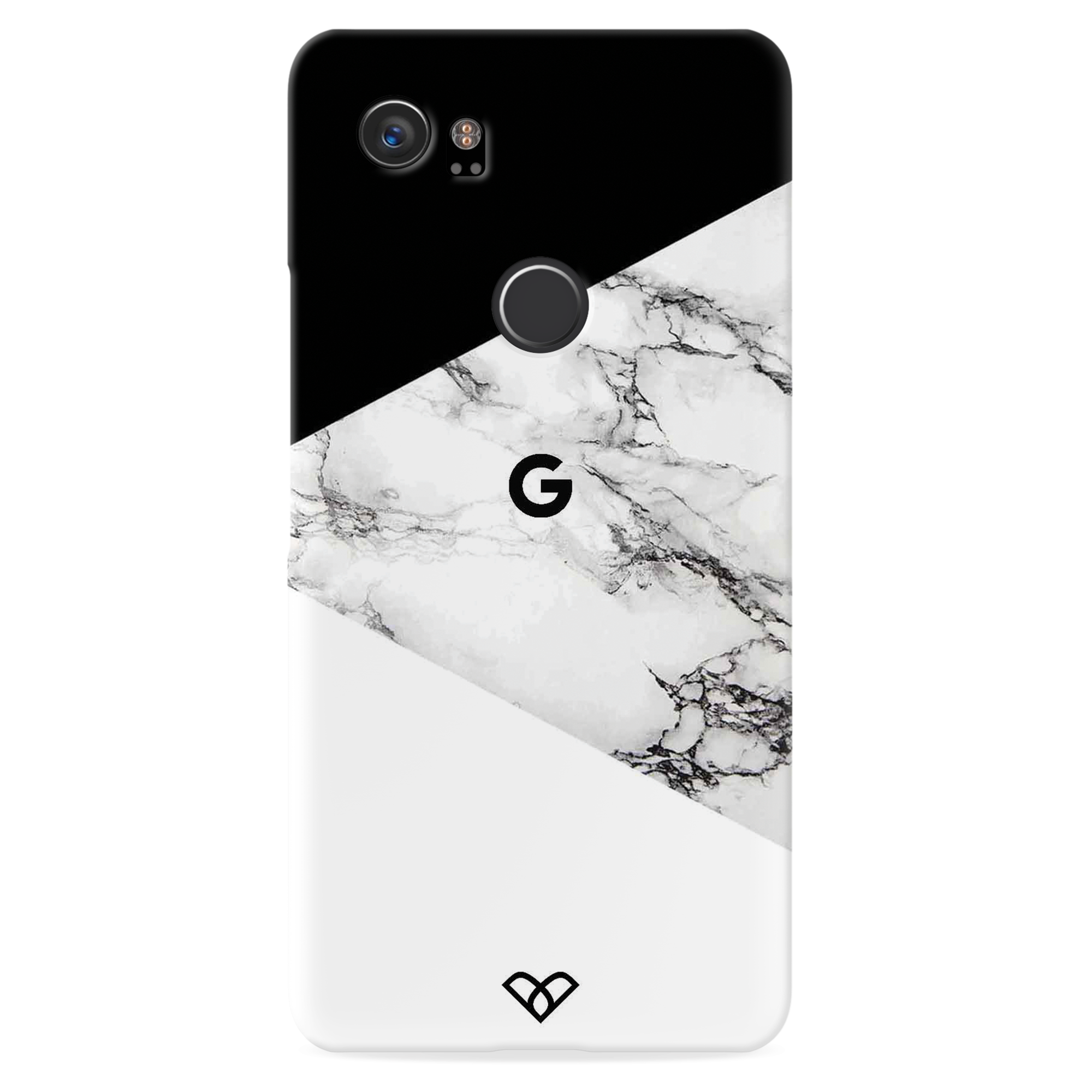 Geometric White Marble Textured Slim Case And Cover For Pixel 2 XL