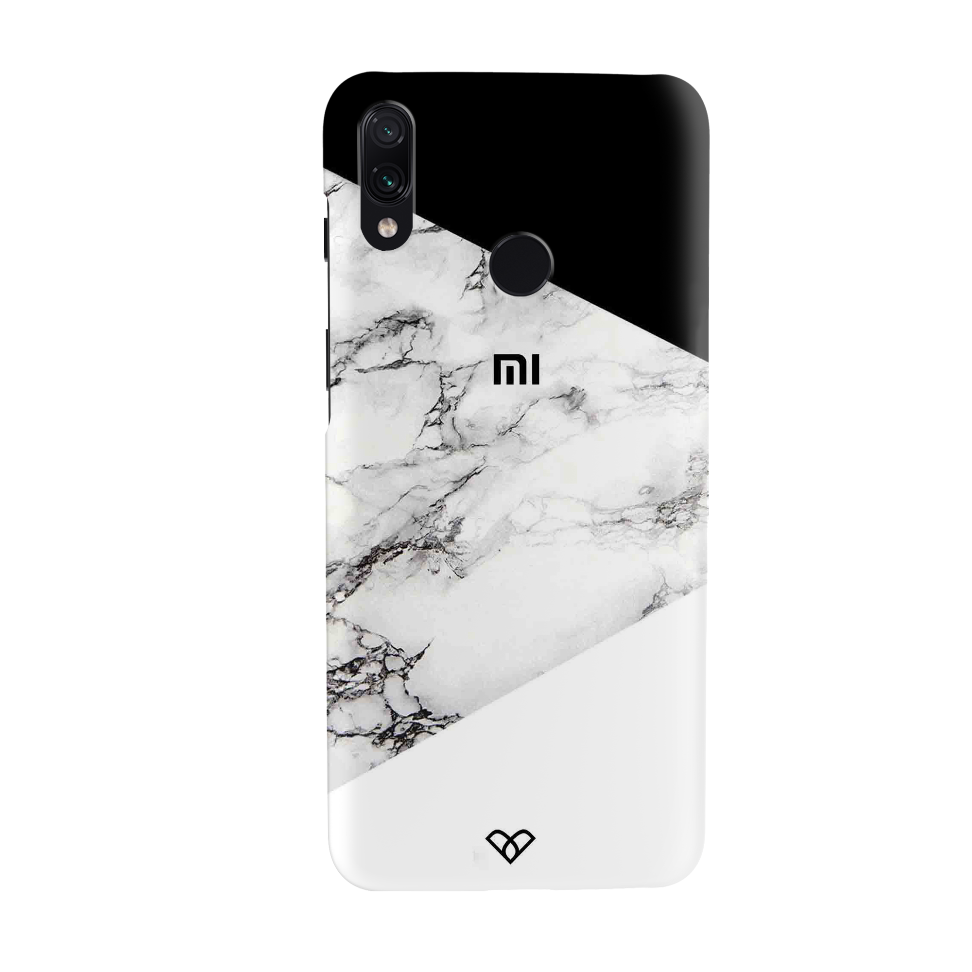 Geometric White Marble Textured Slim Case And Cover For Redmi Note 7 Pro