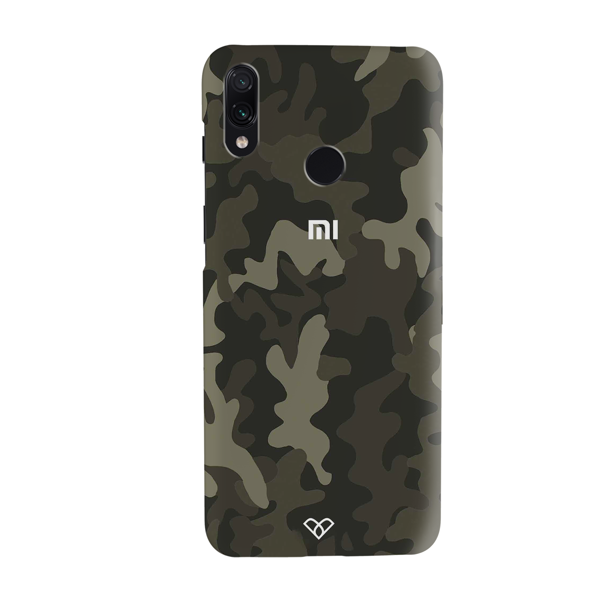 Brown Abstract Camouflage Slim Case And Cover For Redmi Note 7 Pro