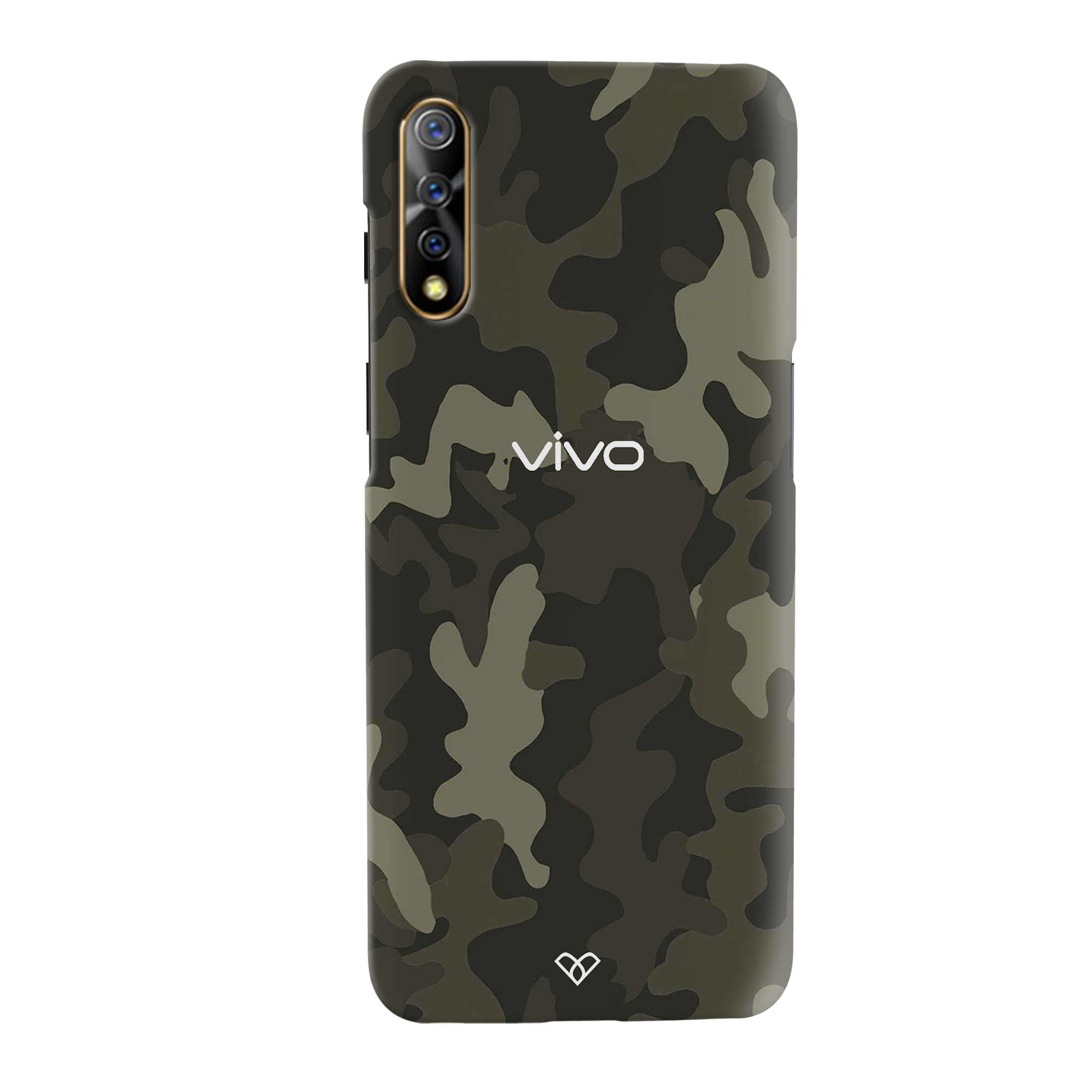Brown Abstract Camouflage Slim Case And Cover For Vivo S1