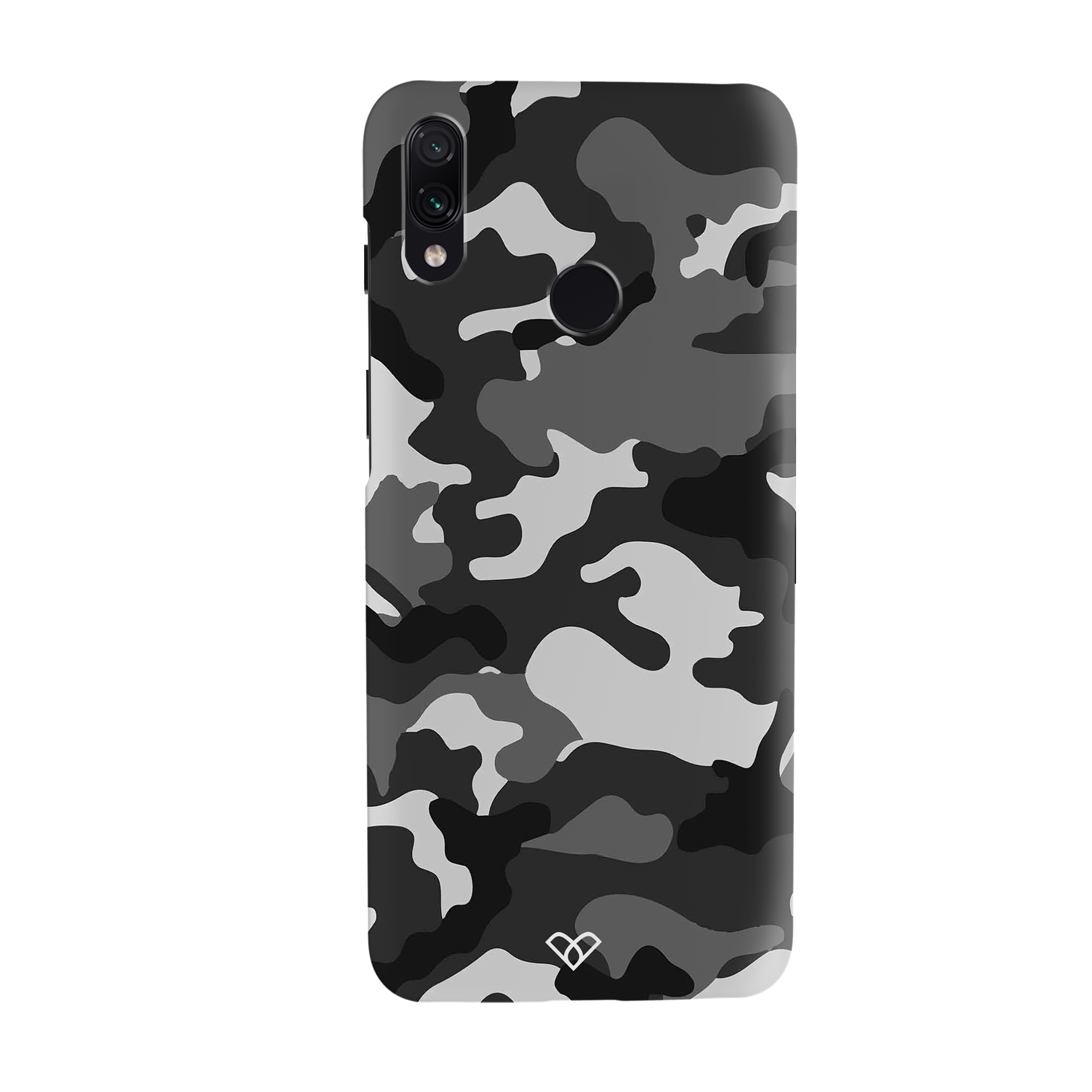 Black Patterned Camouflage Slim Case And Cover For Redmi Note 7 Pro