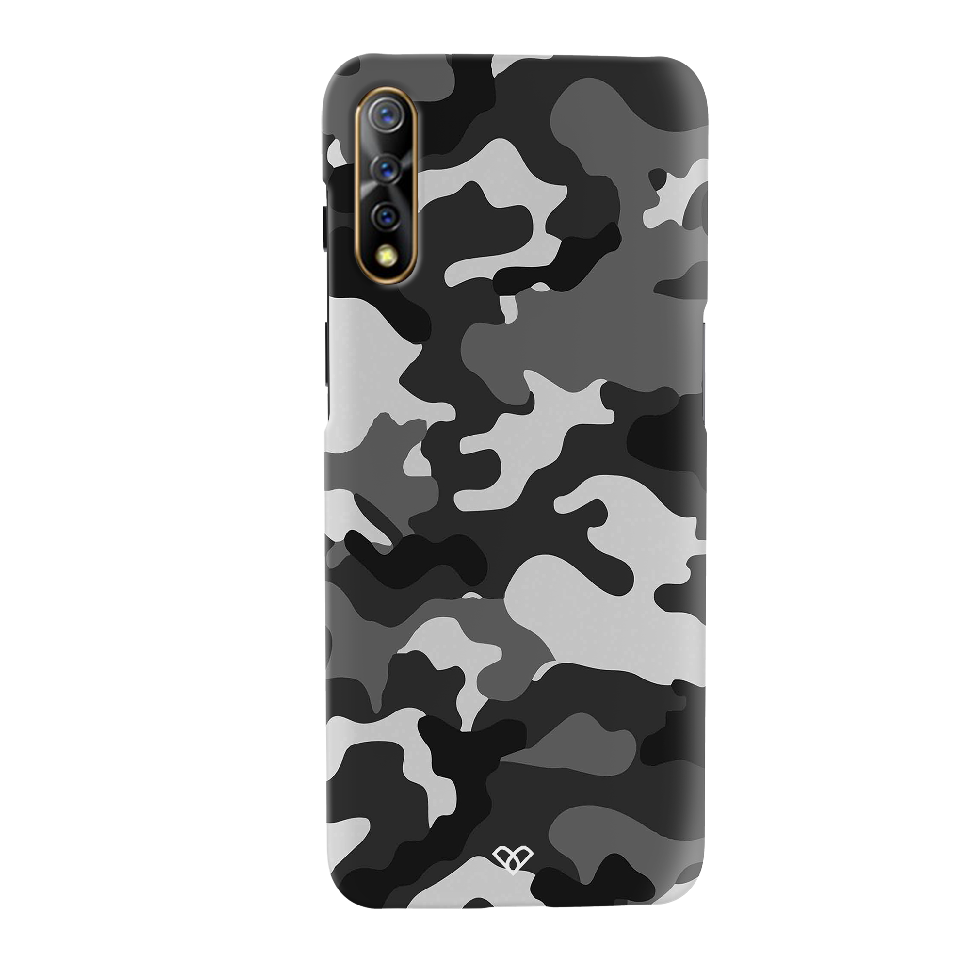 Black Patterned Camouflage Slim Case And Cover For Vivo S1