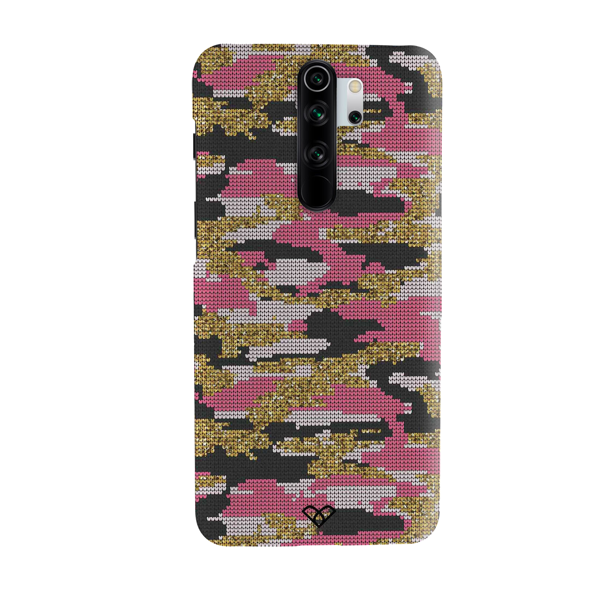 Pink Camouflage Slim Case And Cover For Redmi Note 8 Pro