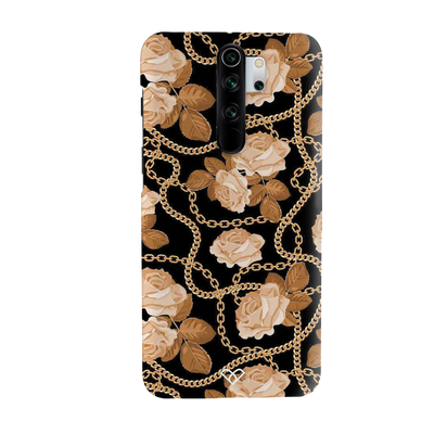 Gold Rose Chain Slim Case And Cover For Redmi Note 8 Pro